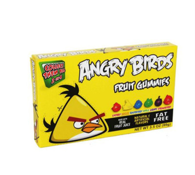 angry bird fruit gummies