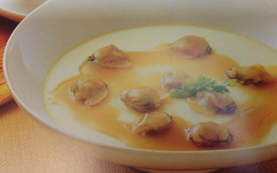 Steamed Eggs with Clams